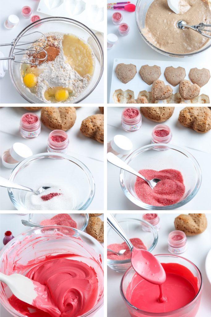 recipe steps for apple shaped mini cakes