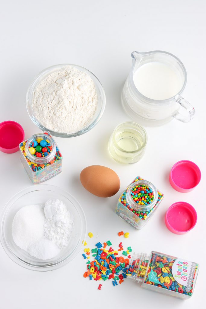 back to school pancake recipe ingredients top view