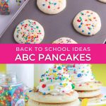 graphic for back to school homemade pancakes recipe