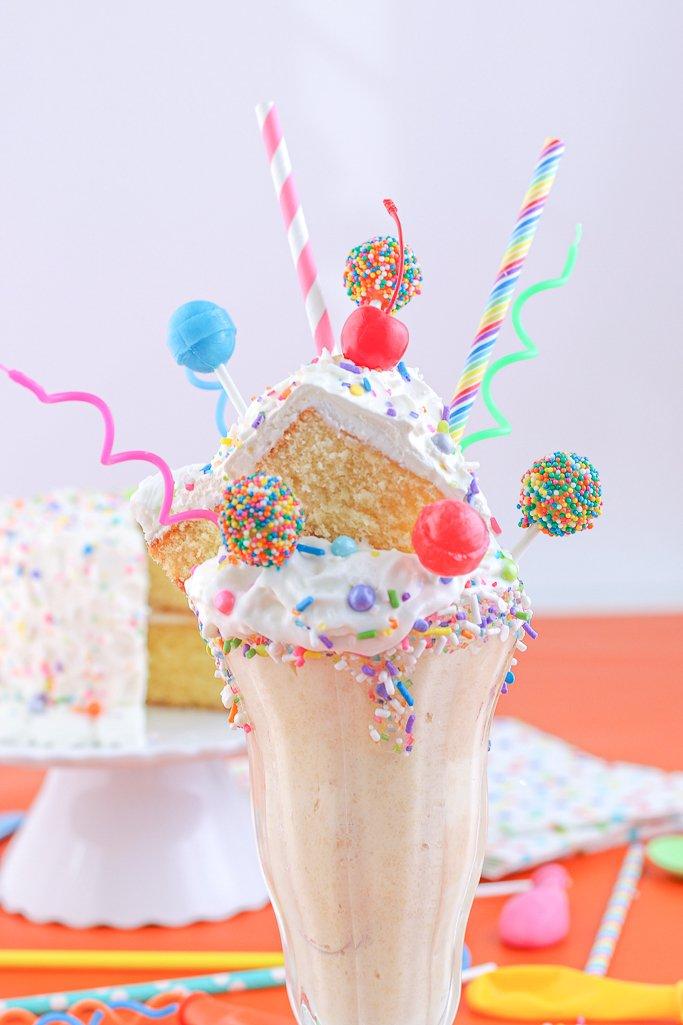 Phenomenal Birthday Cake Milkshake Recipe Freakshake Style Personalised Birthday Cards Epsylily Jamesorg