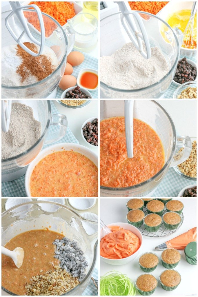 steps for the best carrot cake cupcakes recipe