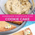graphic for cookie cake recipe