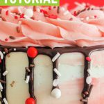 chocolate drip cake tutorial and ideas with sprinkles