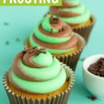 chocolate mint frosting recipe on vanilla cupcakes