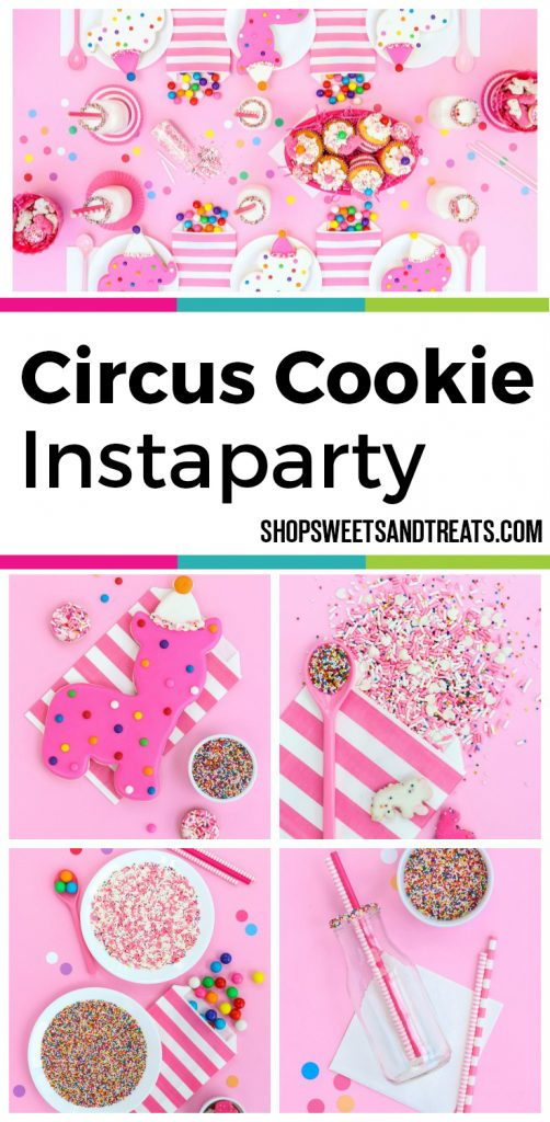 Circus Cookie Party Collage with pictures in a grid