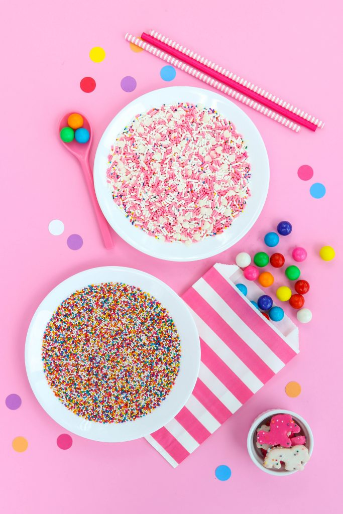 vegan sprinkles in while dishes