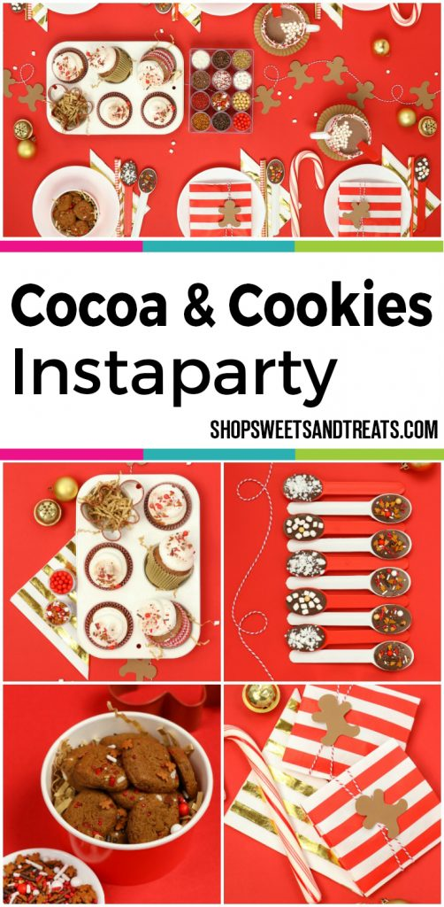Cocoa & Cookies Christmas Party Collage
