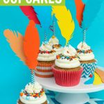 feather cupcakes for thanksgiving - craft ideas for thanksgiving cupcakes