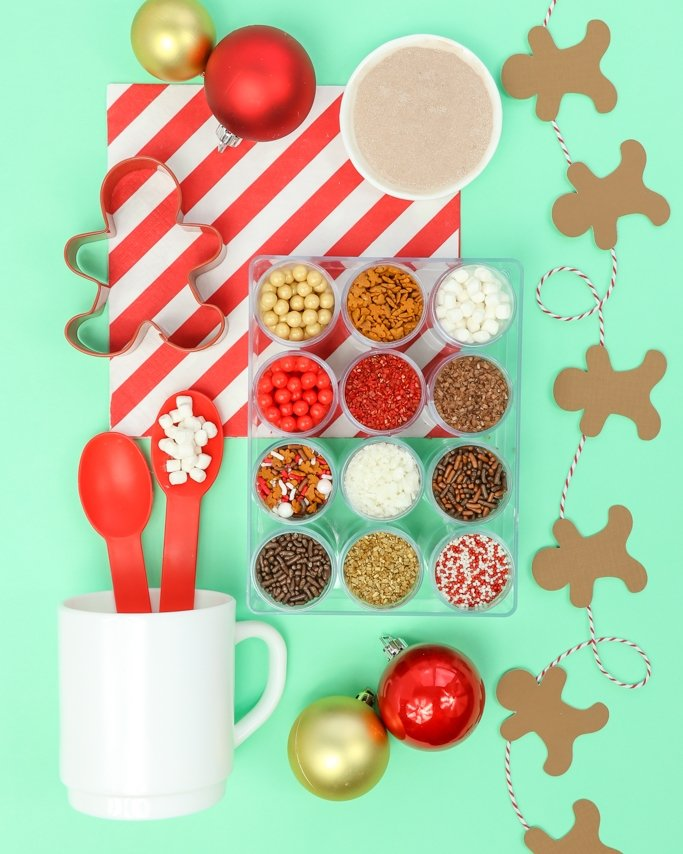 Christmas cookie sprinkles - cocoa cookies sprinkle kit