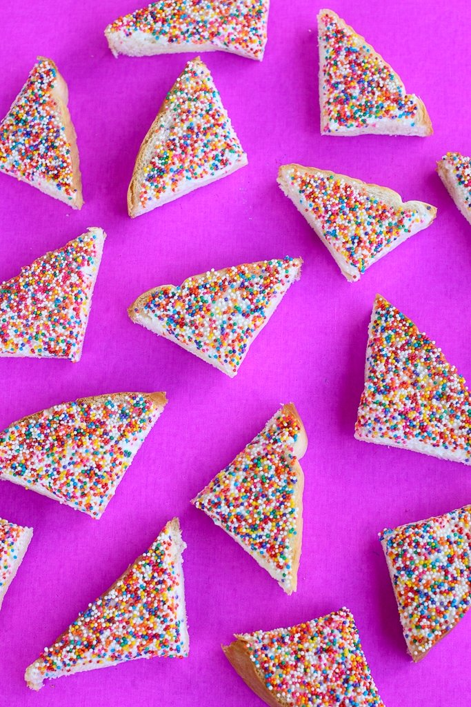 Fairy bread, a classic and simple Australian snack that kids love