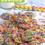 homemade funfetti cookies recipe graphic
