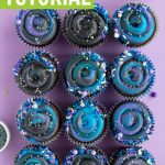 Galaxy cupcakes tutorial - learn how to make them for your next space themed party