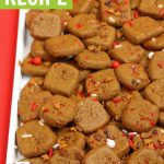 easy gingerbread cookie bites recipe for christmas parties