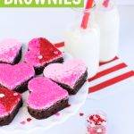heart shaped valentine brownies with ombre sugar crystals graphic