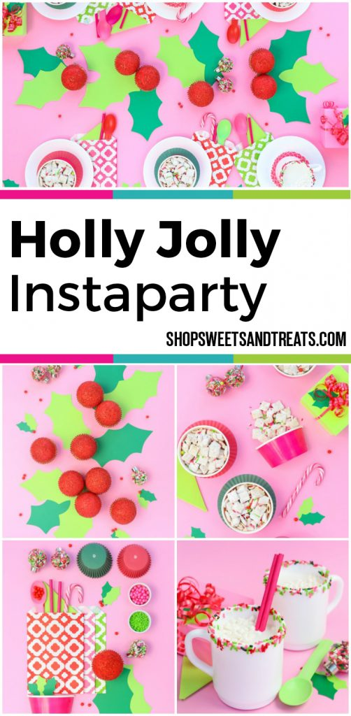Holly Jolly Christmas Party Collage with modern Christmas colors