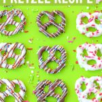 how to make chocolate covered pretzels recipe graphic