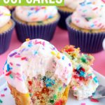 Homemade Funfetti Cupcakes with Jimmies Sprinkles Graphic
