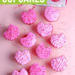 How to make heart cupcakes graphic