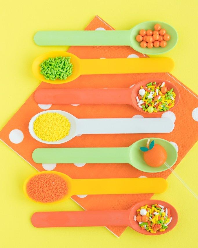 Lemon lime spoons and sprinkles.