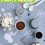 melted snowman party ideas graphic