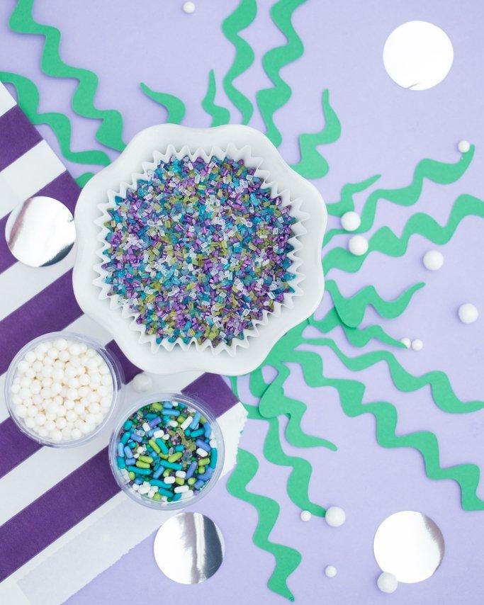 Mermaid sprinkles in gorgeous sugar sprinkles shades..