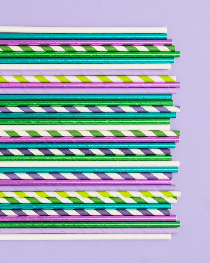 Mermaid Party Paper Straws - Mermaid Party Supplies