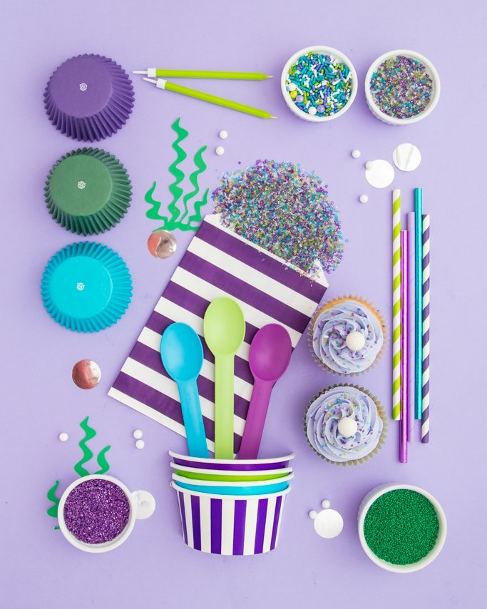 Mermaid party ideas and supplies.