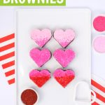 ombre valentine brownies using cookie cutters and sugar crystals
