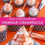 Orange creamsicle cupcakes recipe graphic