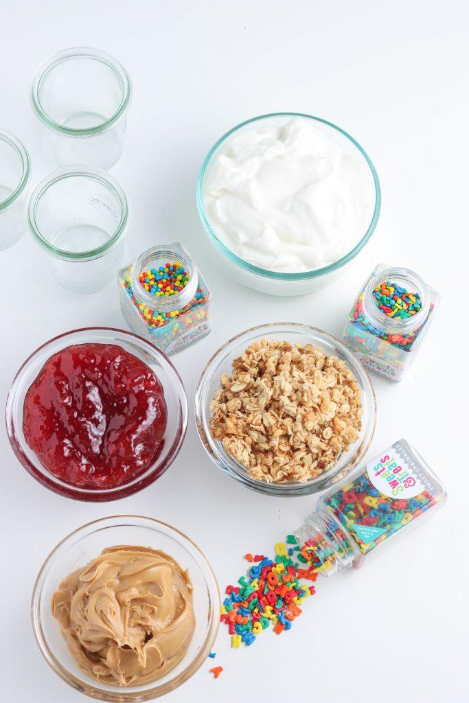 peanut butter and jelly yogurt parfait ingredients