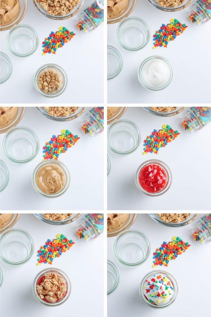 recipe steps for peanut butter and jelly yogurt parfait recipe
