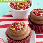 peppermint chocolate frosting recipe graphic
