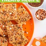 pumpkin rice krispie treats recipe with fall sprinkles
