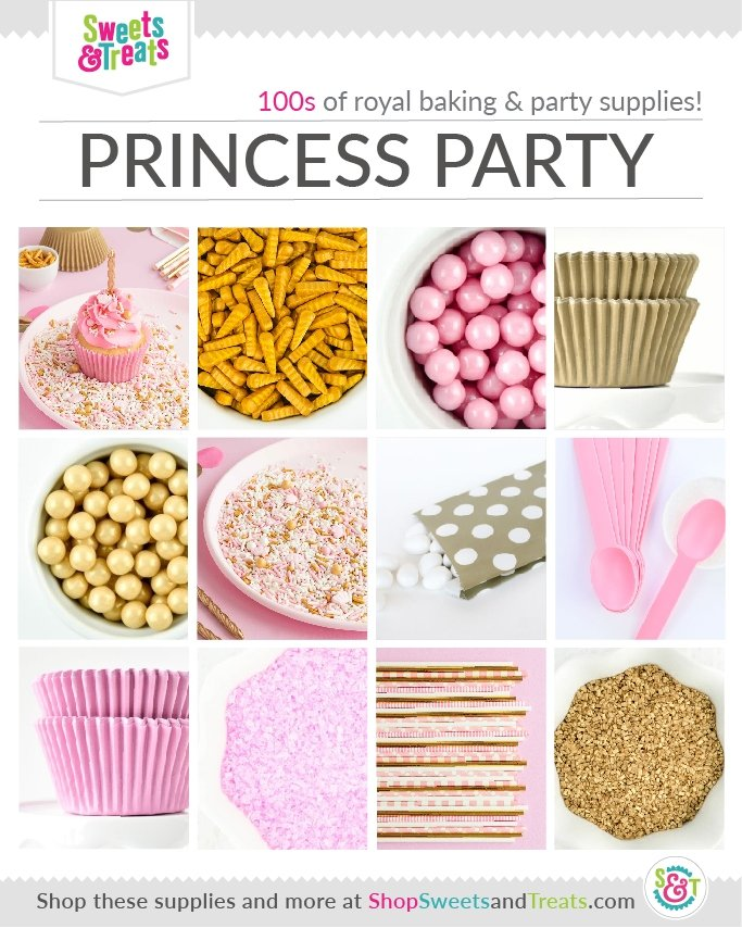 Pink and gold princess party supplies