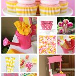 Pink Lemonade Party First Birthday Collage