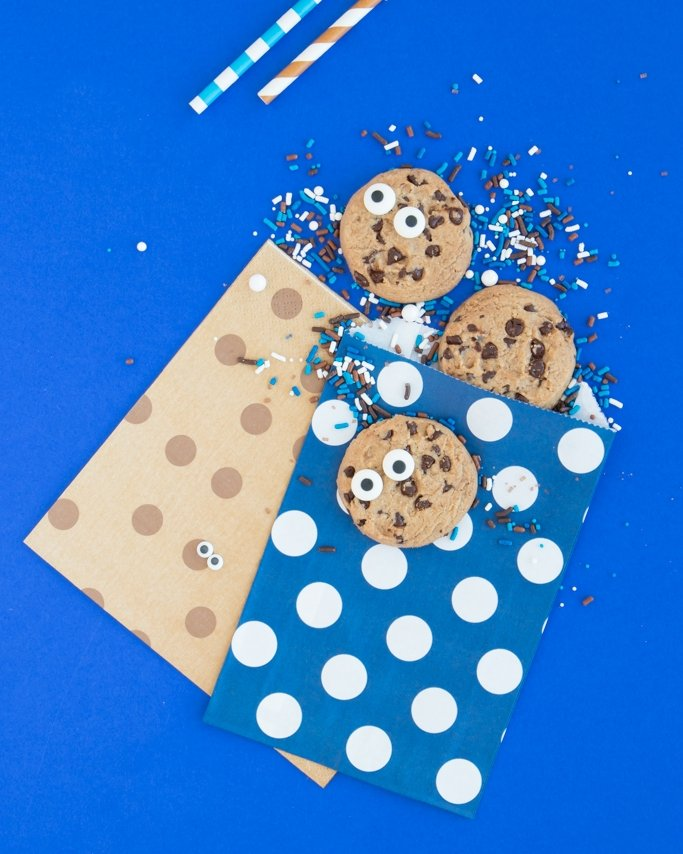 Cookie Monster Party Ideas - Cookie Monster Party Supplies on blue background