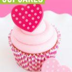 easy strawberry cream cheese cupcakes recipe graphic