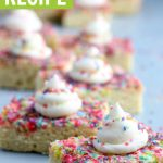 graphic of sprinkle topped sugar cookie bars closeup photo