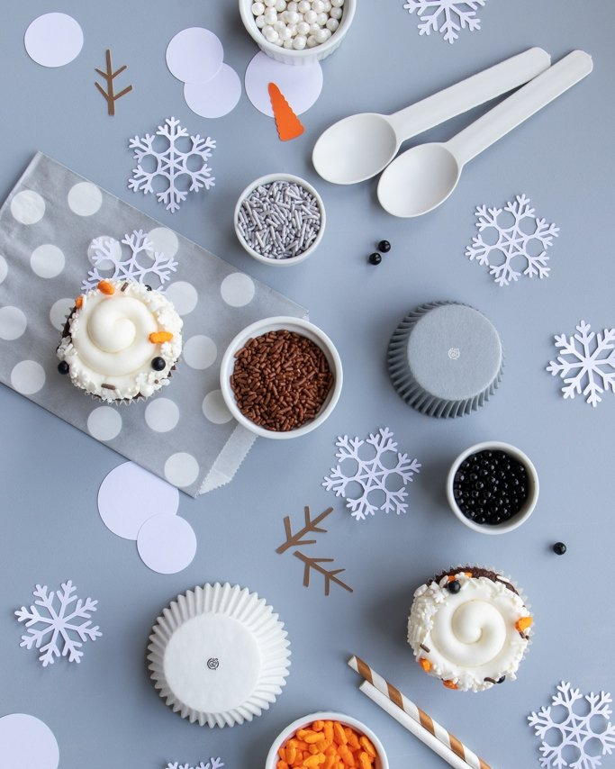 melted snowman party supplies & party ideas