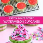 graphic for watermelon cupcakes recipe