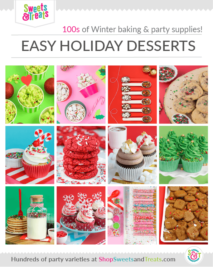 easy Christmas desserts ideas roundup with sprinkles roundup graphic