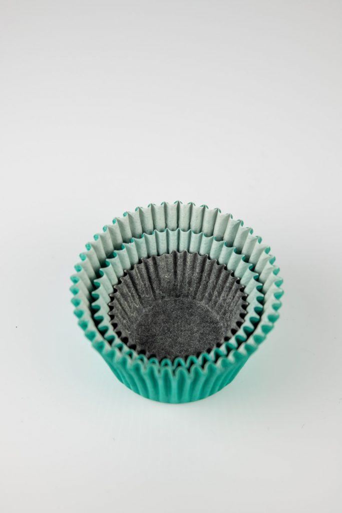standard, mini, and midi cupcake liners comparison